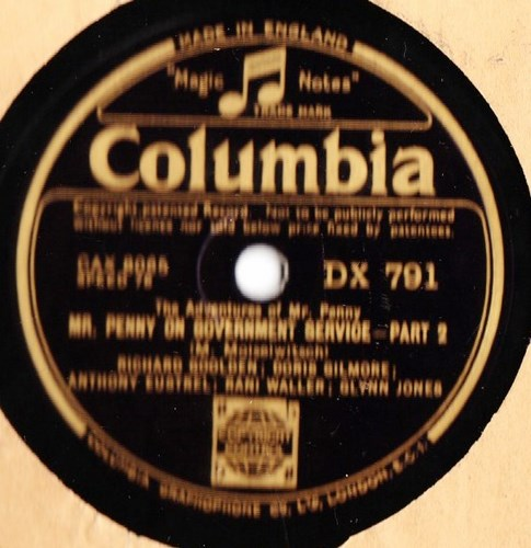 Mr. Penny on Government Service - Columbia DX.791