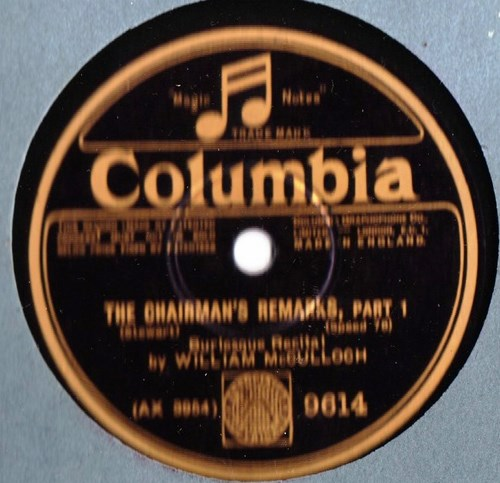 William McCulloch - The Chairman's Remarks - Columbia 9614