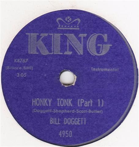 BILL DOGGETT - HONKY TONK - KING 4950 { 332